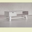 Televizní stolek Bass v bílé barvě dřeva